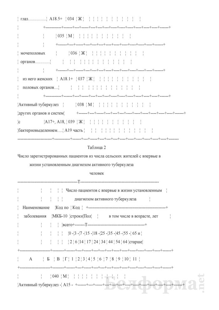 Отчет о пациентах с туберкулезом (Форма 1-туберкулез (Минздрав) (годовая)). Страница 7