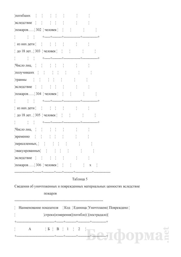 Отчет о пожарах (кроме лесных) и последствиях от них (Форма 4-ос (пожары) (квартальная)). Страница 5