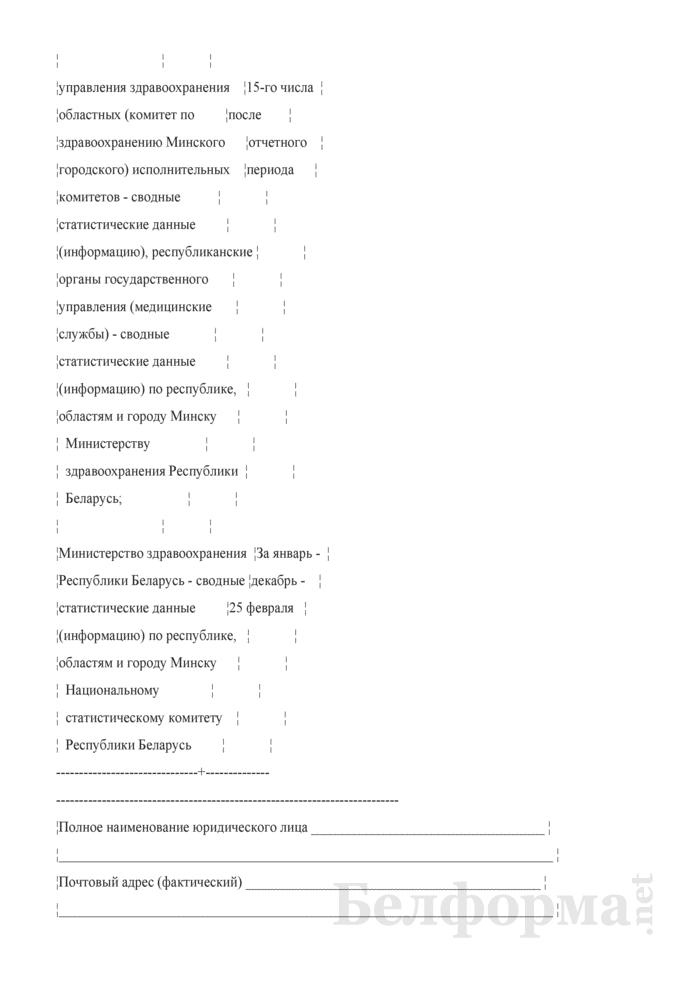 Отчет о причинах временной нетрудоспособности (Форма 4-нетрудоспособность (Минздрав) (квартальная)). Страница 3