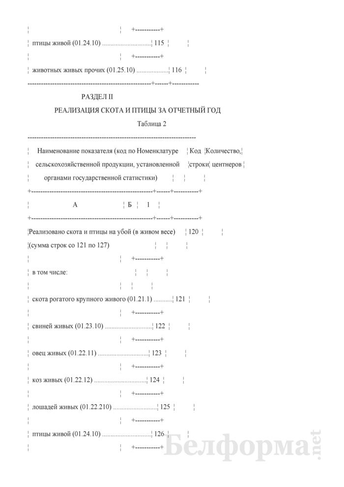Отчет о производстве продукции животноводства и численности скота и птицы (Форма 1-сх (фермер) (годовая), код формы по ОКУД 0606048). Страница 4