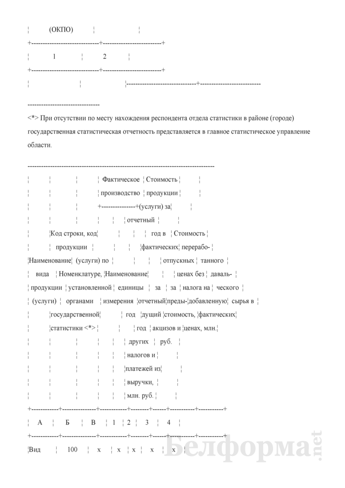 Отчет о производстве промышленной продукции (оказании услуг промышленного характера) (Форма 1-п (натура) (годовая)). Страница 3