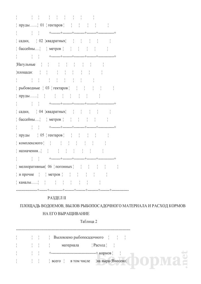 Отчет о производстве рыбопосадочного материала и товарной рыбы в искусственных водоемах (Форма 1-сх рыба (Минсельхозпрод) (годовая)). Страница 4