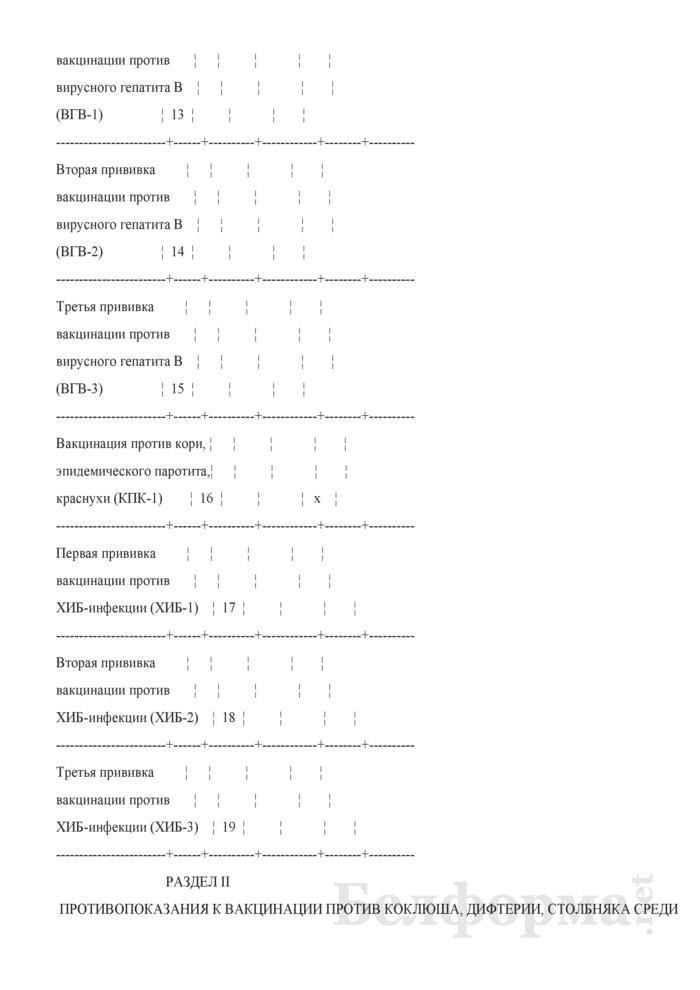 Отчет о проведенных профилактических прививках. Форма 2-прививки (Минздрав) (полугодовая). Страница 6