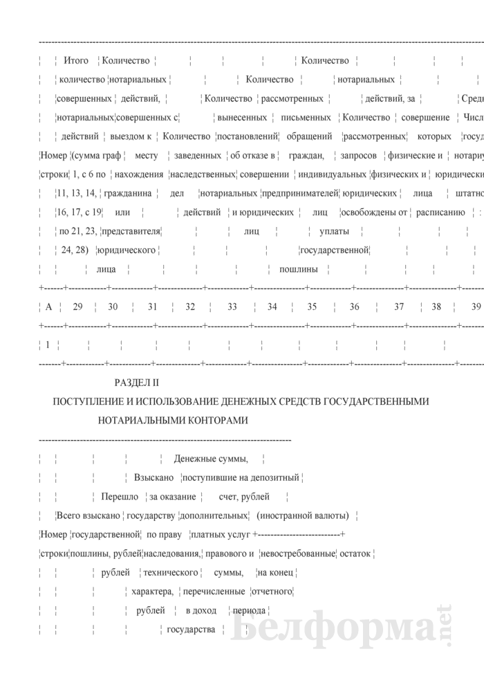 Отчет о работе государственных нотариальных контор и частных нотариусов. Форма № 1-нотариус (Минюст) (годовая). Страница 4