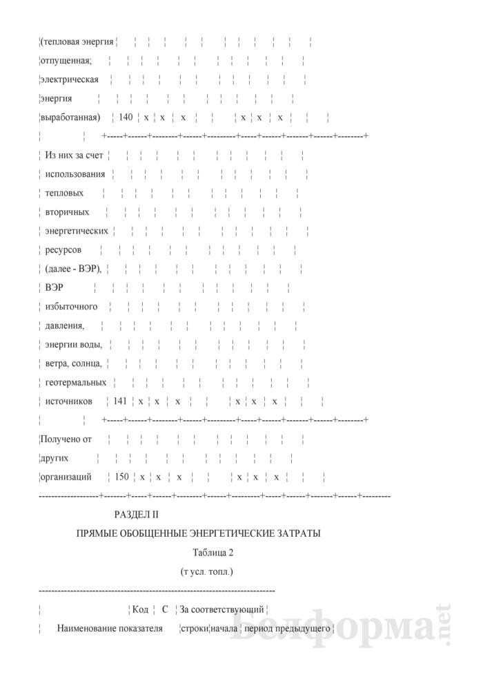 Отчет о расходе топливно-энергетических ресурсов (Форма 12-тэк (месячная)). Страница 5