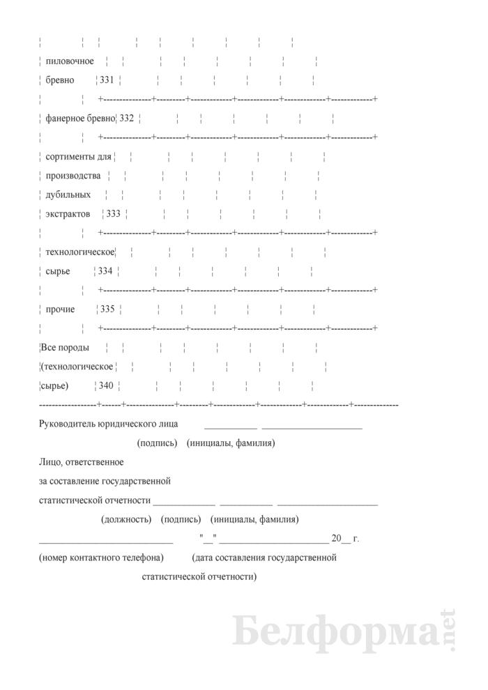 Отчет о реализации древесины. Форма 4-реализация (Минлесхоз) (квартальная). Страница 16