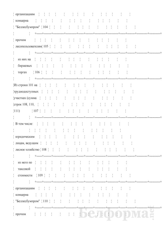 Отчет о реализации древесины. Форма 4-реализация (Минлесхоз) (квартальная). Страница 4