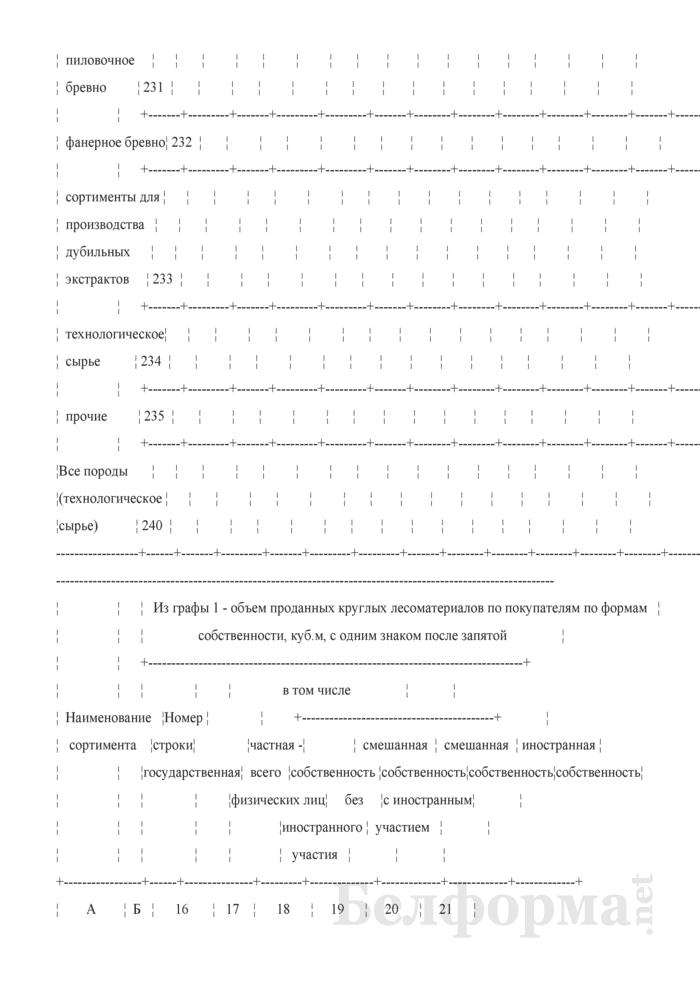 Отчет о реализации древесины. Форма 4-реализация (Минлесхоз) (квартальная). Страница 8