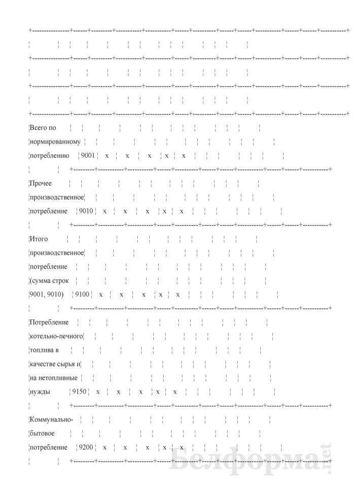 Отчет о результатах использования топлива, тепловой и электрической энергии (Форма 4-нормы ТЭР (Госстандарт) (квартальная)). Страница 4