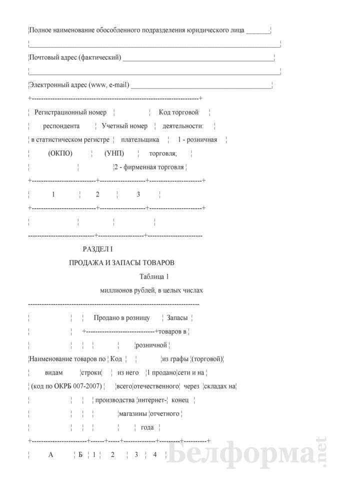 Отчет о розничной торговле (Форма 1-торг (розница) (годовая)). Страница 3