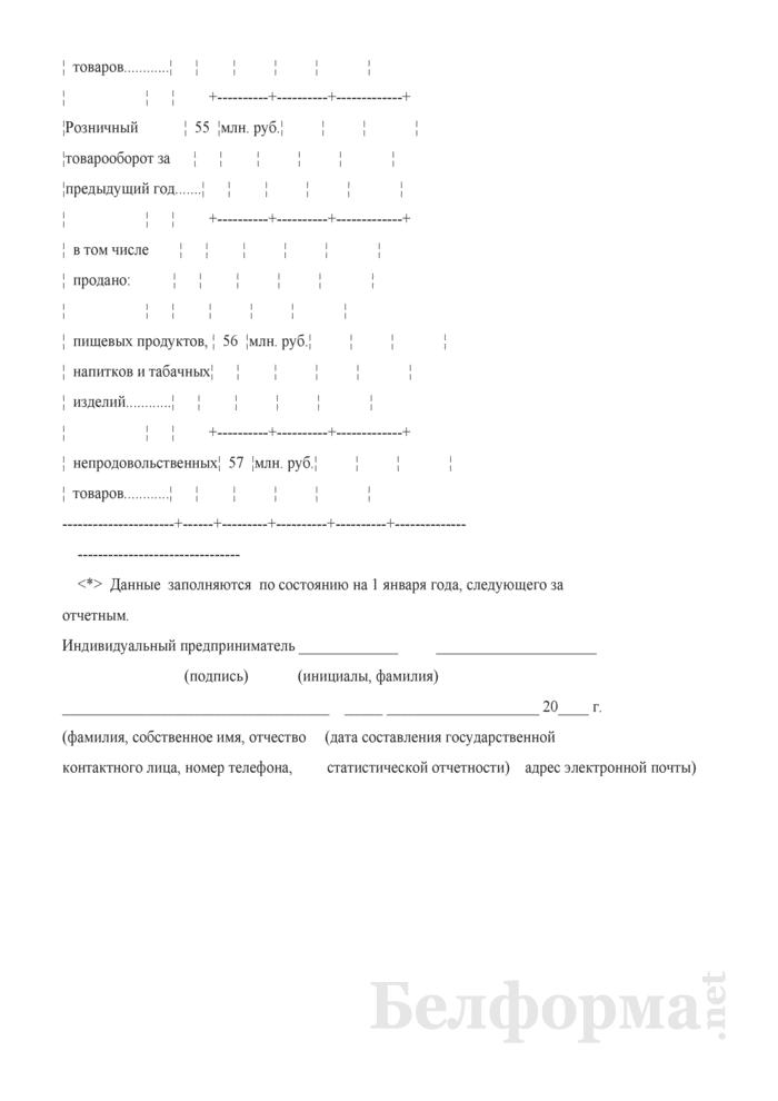 Отчет о розничном товарообороте индивидуального предпринимателя (Форма 1-торг (ип) (годовая)). Страница 9