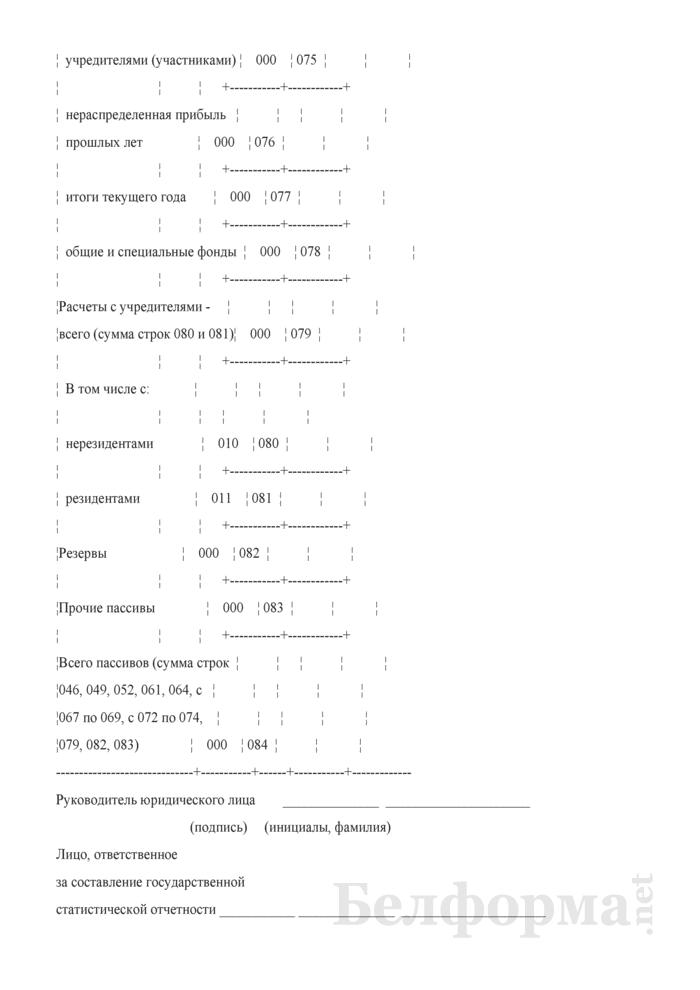Отчет о составе активов и пассивов страховщика. Форма 4-с (Нацбанк) (квартальная). Страница 11