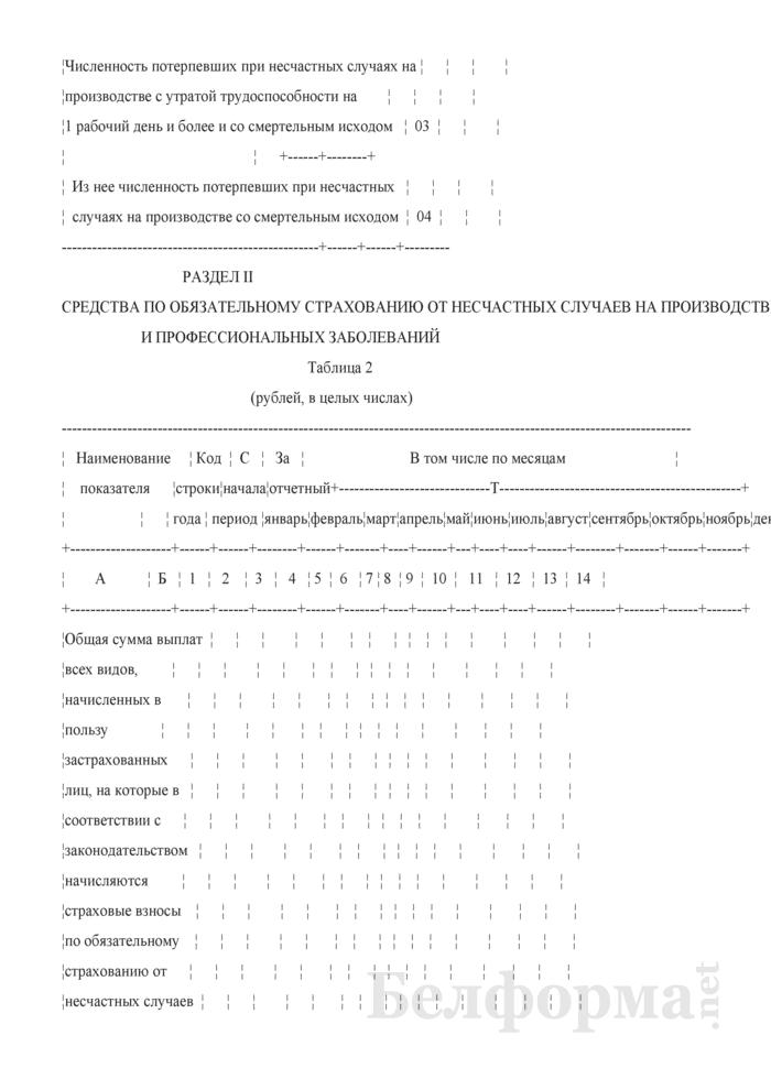 Отчет о средствах по обязательному страхованию от несчастных случаев на производстве и профессиональных заболеваний (Форма 4-страхование (Белгосстрах) (квартальная)). Страница 5