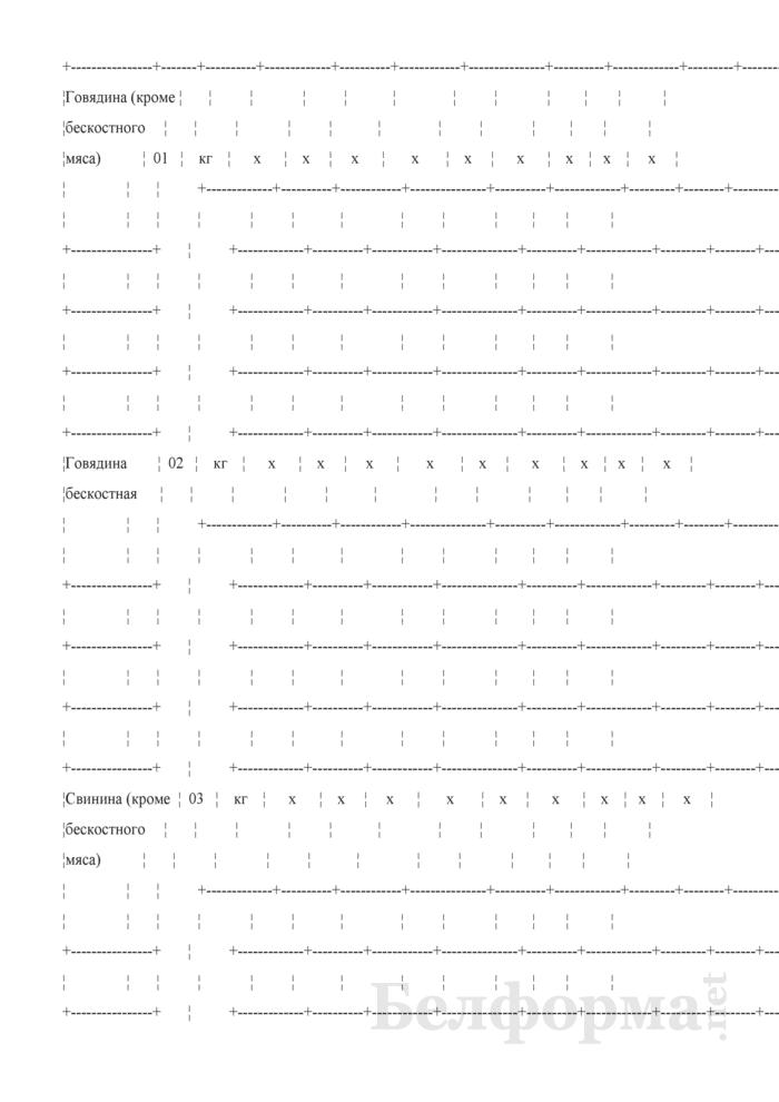 Отчет о структуре розничной цены отдельных видов товаров (Форма 1-цены (торгструктура) (4 раза в год)). Страница 3