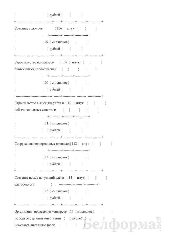 Отчет о ведении охотничьего хозяйства. Форма 2-охота (Минлесхоз) (полугодовая). Страница 4