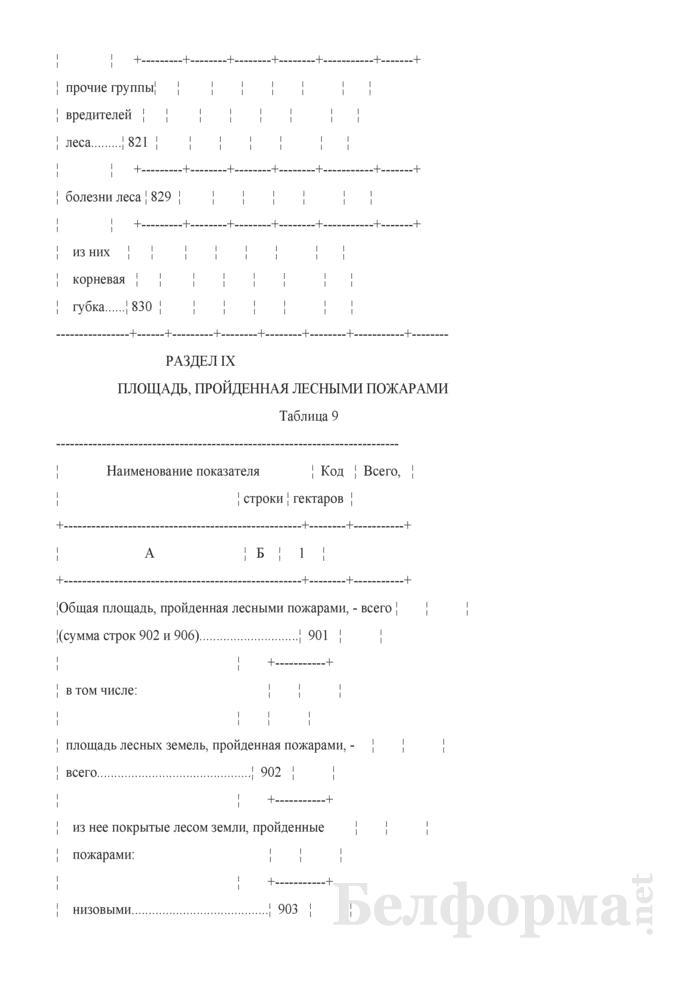 Отчет о воспроизводстве, защите леса и лесных пожарах (Форма 1-лх (воспроизводство и защита леса) (годовая)). Страница 13