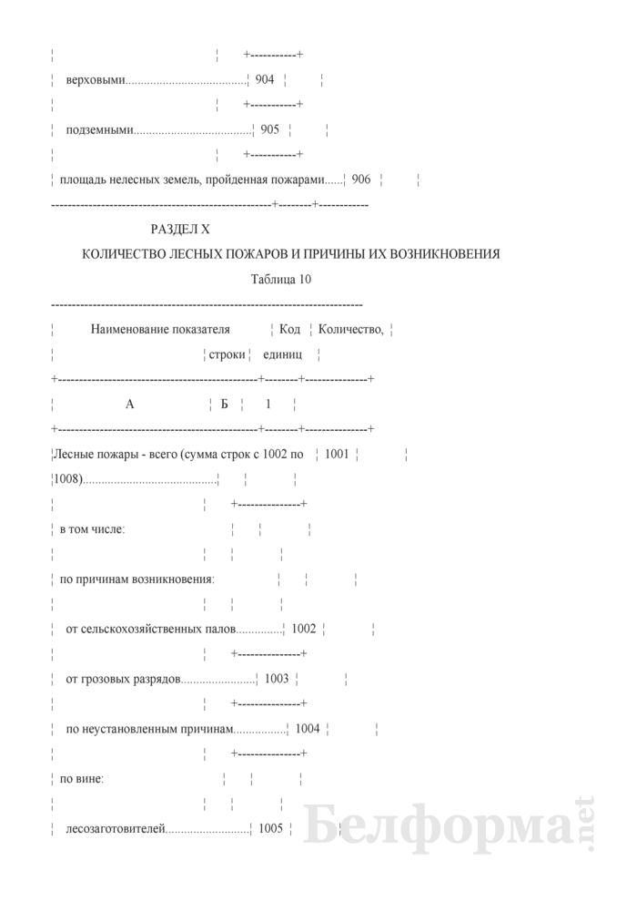 Отчет о воспроизводстве, защите леса и лесных пожарах (Форма 1-лх (воспроизводство и защита леса) (годовая)). Страница 14