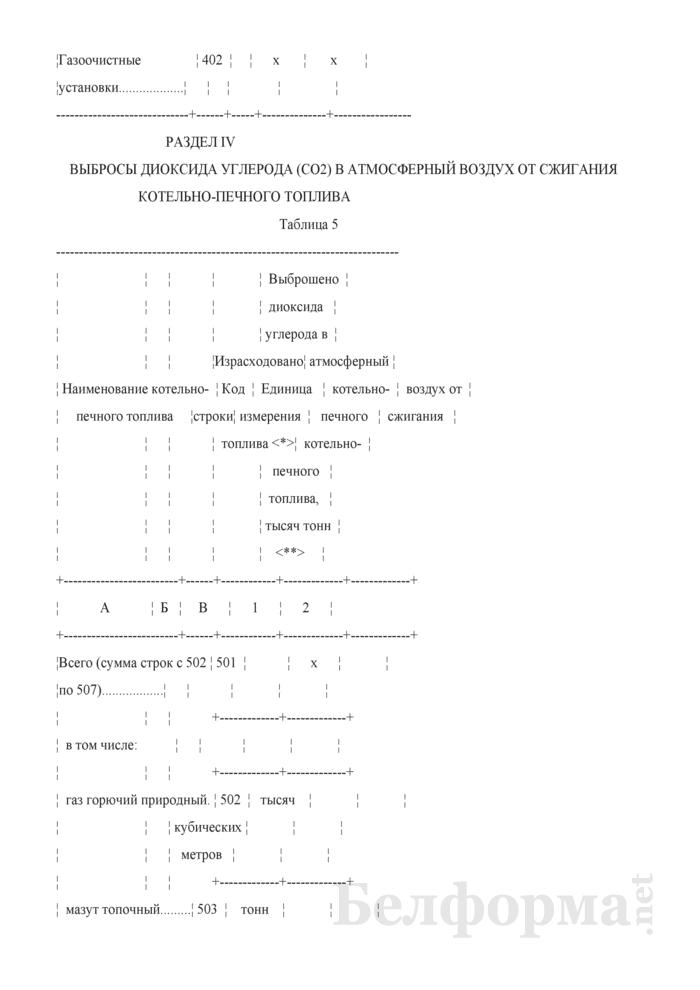 Отчет о выбросах загрязняющих веществ и диоксида углерода в атмосферный воздух от стационарных источников выбросов (Форма 1-ос (воздух) (годовая)). Страница 8
