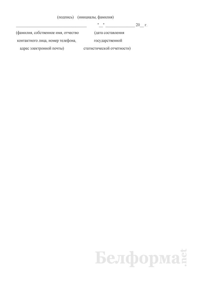 Отчет о выполнении мероприятий действующих республиканской, отраслевых и территориальных целевых программ по улучшению условий и охраны труда. Форма 4-охрана труда (Минтруда и соцзащиты) (квартальная). Страница 11