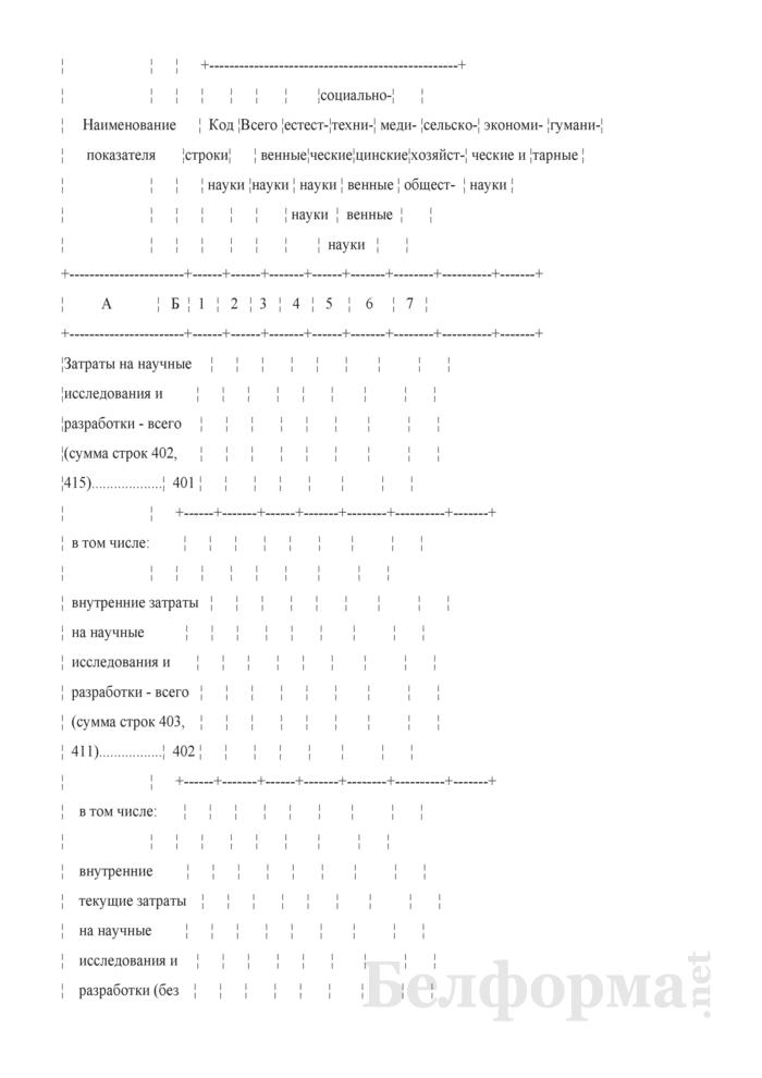 Отчет о выполнении научных исследований и разработок (Форма 1-нт (наука) (годовая)). Страница 11