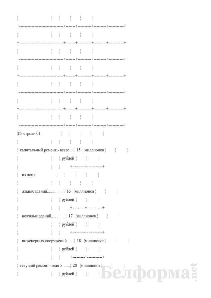 Отчет о выполнении подрядных работ (Форма 12-ис (строительство)(месячная, срочная)). Страница 4