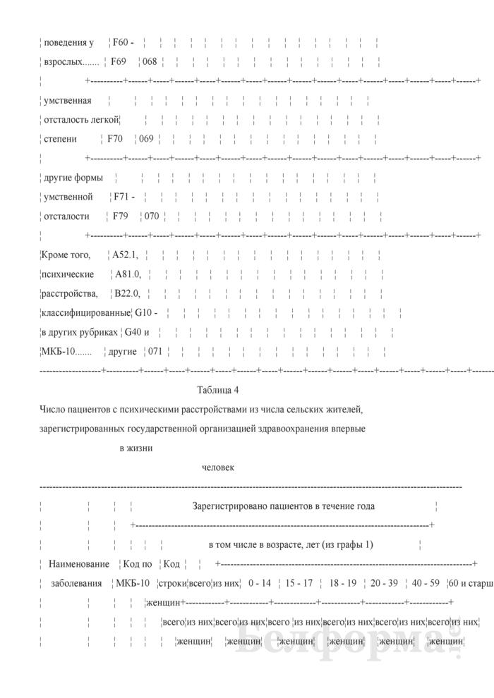 Отчет о заболеваниях психическими расстройствами, расстройствами поведения и контингентах наблюдаемых пациентов (кроме заболеваний, связанных с употреблением психоактивных средств) (Форма 1-психиатрия (Минздрав) (годовая)). Страница 17