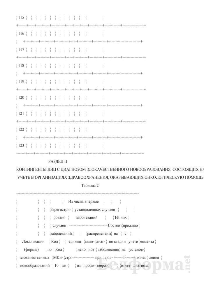 Отчет о заболеваниях злокачественными новообразованиями (Форма 1-злокачественные новообразования (Минздрав) (годовая)). Страница 22