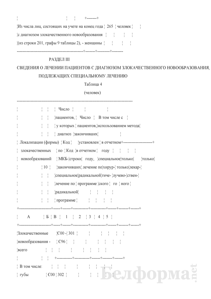 Отчет о заболеваниях злокачественными новообразованиями (Форма 1-злокачественные новообразования (Минздрав) (годовая)). Страница 28