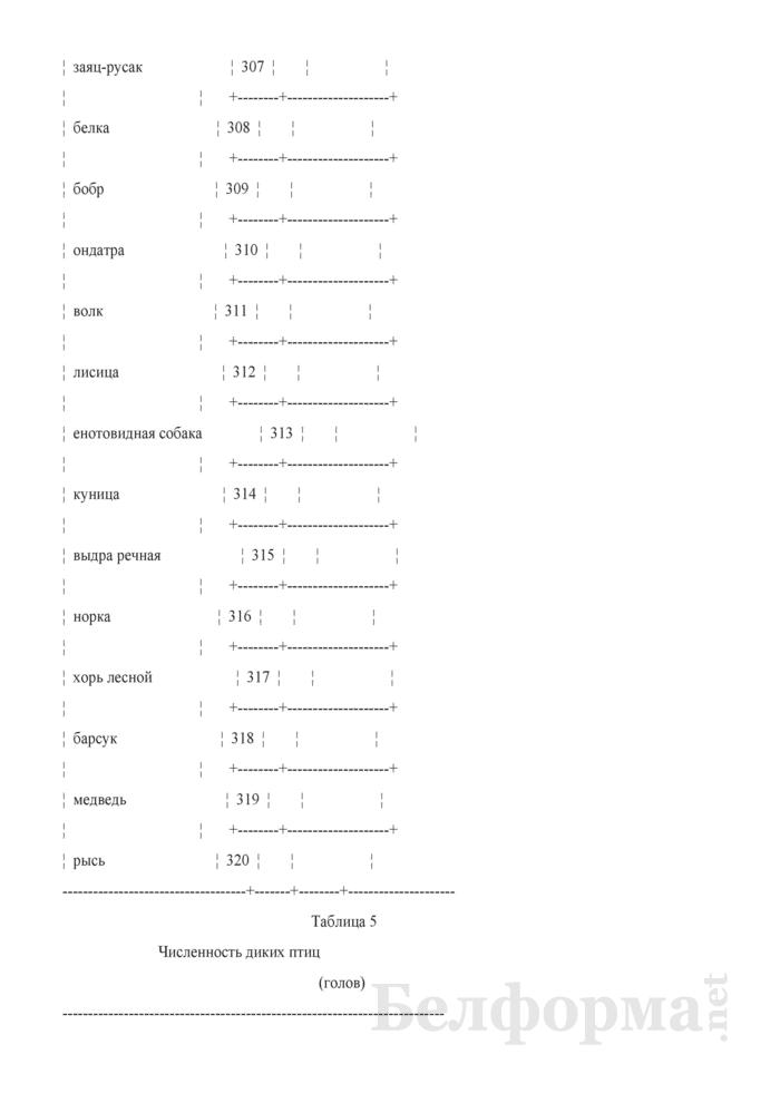 Отчет о заповедниках и национальных парках (Форма 6-лх (заповедник) (1 раз в 3 года)). Страница 6