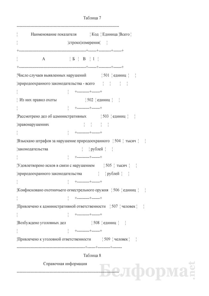 Отчет о заповедниках и национальных парках (Форма 6-лх (заповедник) (1 раз в 3 года)). Страница 10