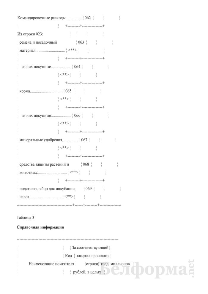 Отчет о затратах на производство продукции (работ, услуг) (Форма 4-ф (затраты) (квартальная). Страница 10