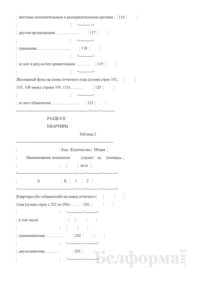Отчет о жилищном фонде (Форма 1-жкх (жилфонд) (годовая)). Страница 5