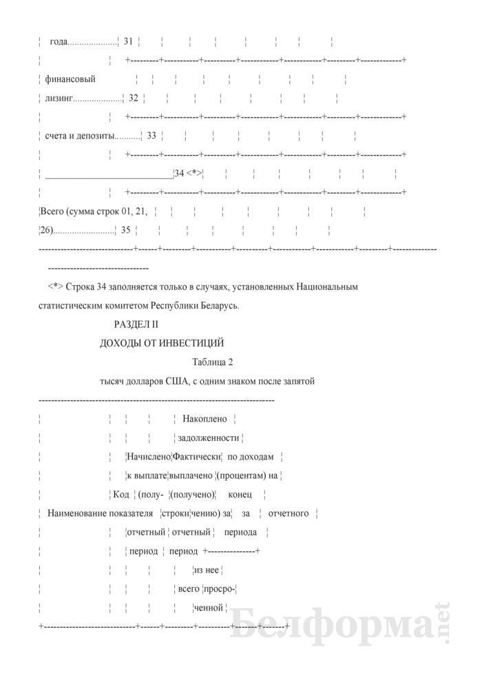 Отчет об инвестициях в Республику Беларусь из-за рубежа и инвестициях из Республики Беларусь за рубеж (Форма 4-ф (инвест) (квартальная)). Страница 8