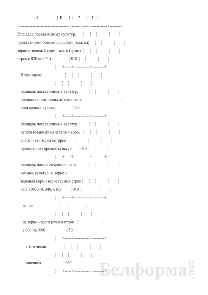 Отчет об итогах сева под урожай (Форма 1-сх (посевы) (1 раз в год)). Страница 3