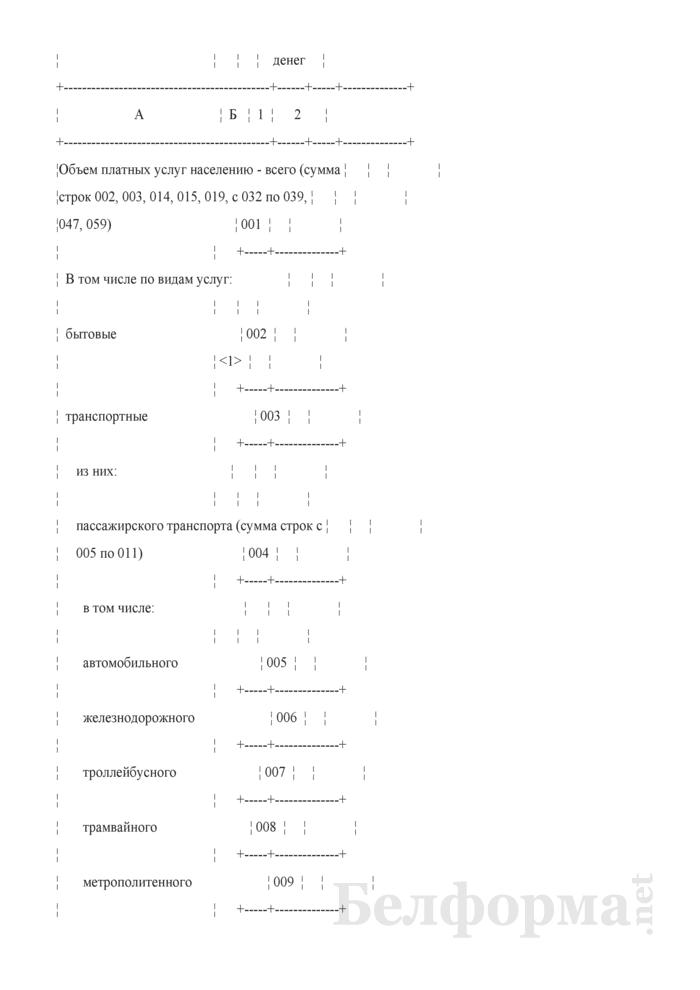 Отчет об объеме платных услуг населению (Форма 1-ун (годовая)). Страница 3