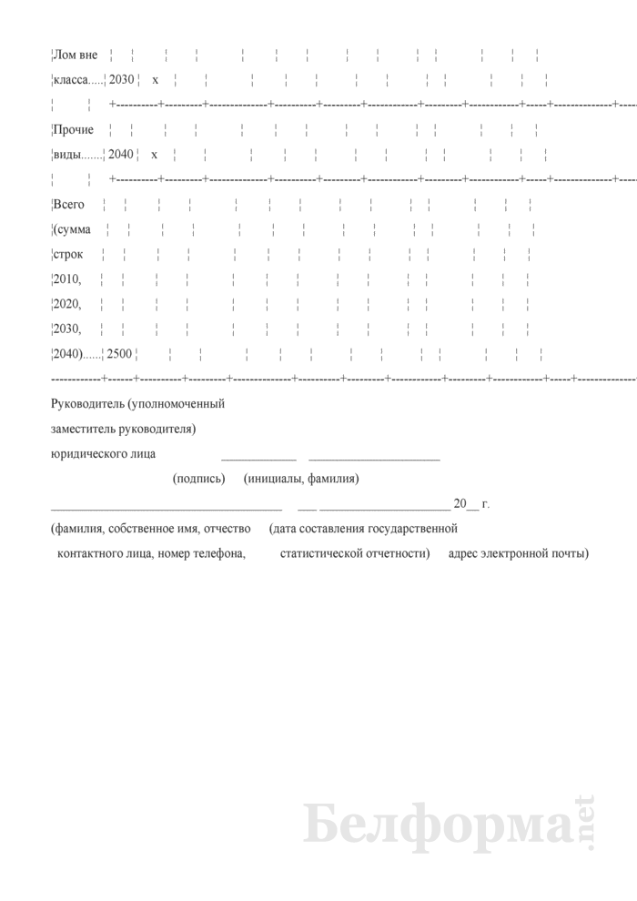 Отчет об образовании и использовании лома и отходов черных и цветных металлов (Форма 1-мр (лом) (годовая), код формы по ОКУД 0608033). Страница 7