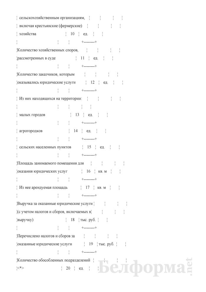 Отчет об оказании юридических услуг (Форма 1-юридические услуги (Минюст) (годовая)). Страница 4