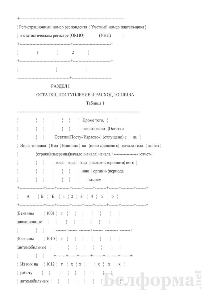 Отчет об остатках, поступлении и расходе топлива (Форма 4-тэк (топливо) (квартальная)). Страница 3