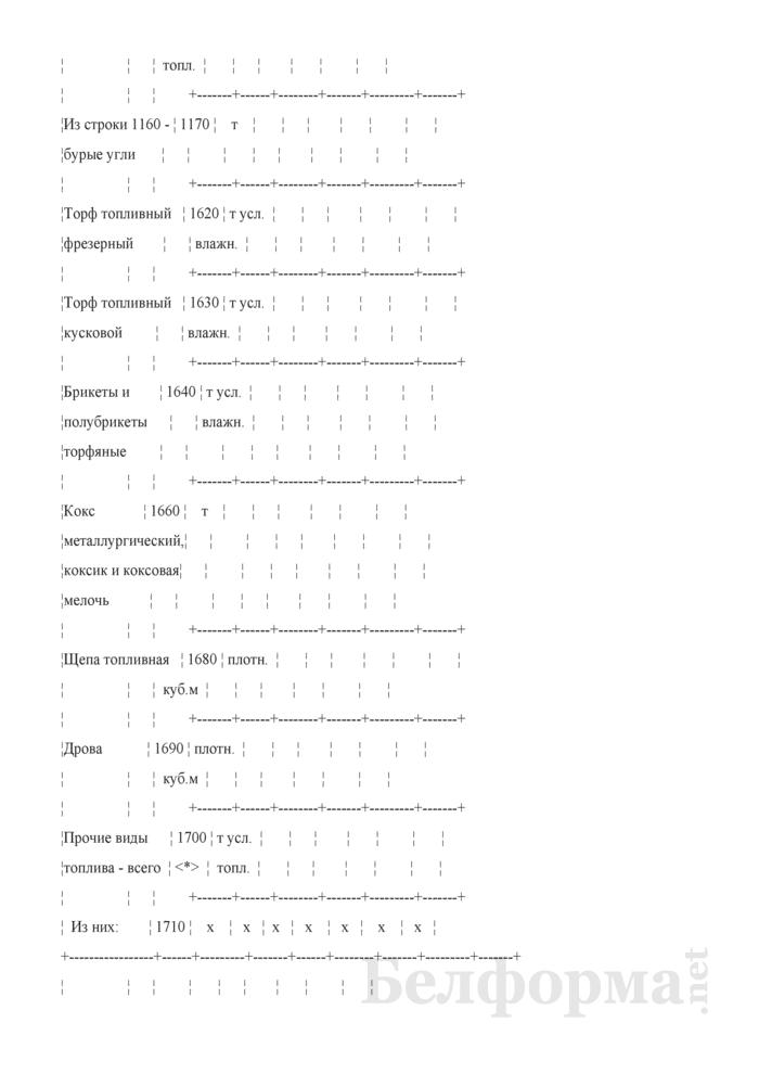 Отчет об остатках, поступлении и расходе топлива (Форма 4-тэк (топливо) (квартальная)). Страница 6