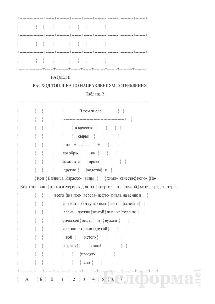 Отчет об остатках, поступлении и расходе топлива (Форма 4-тэк (топливо) (квартальная)). Страница 7