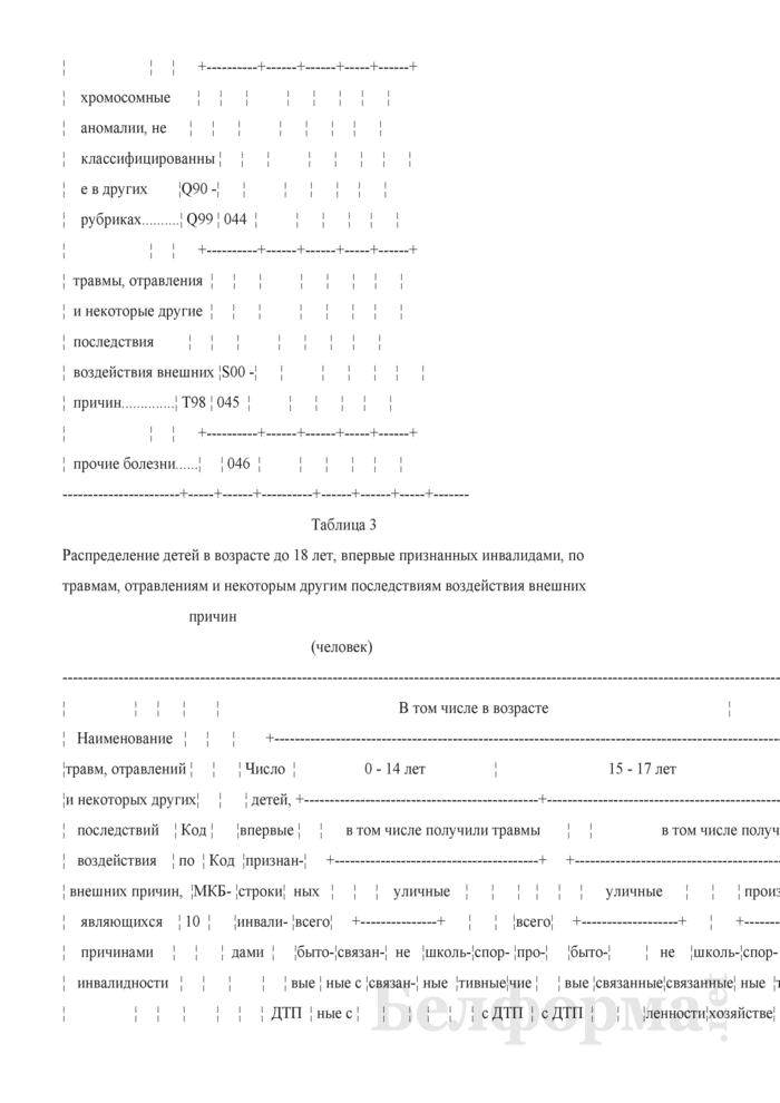 Отчет об освидетельствовании детей медико-реабилитационными экспертными комиссиями (Форма 1-инвалидность дети (Минздрав) (годовая)). Страница 10