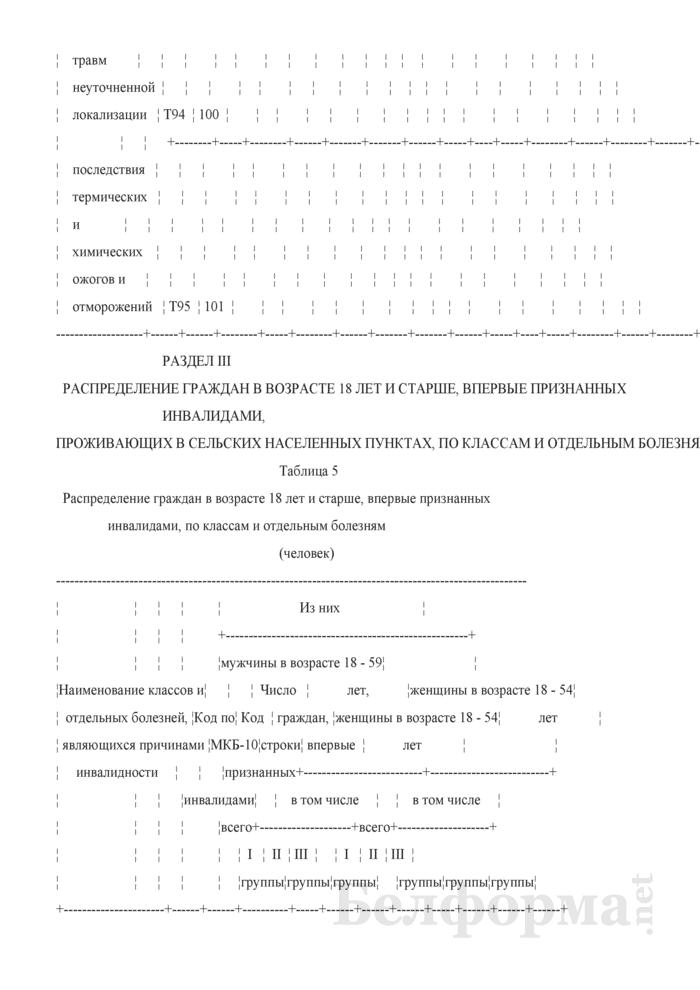 Отчет об освидетельствовании взрослого населения медико-реабилитационными экспертными комиссиями (Форма 1-инвалидность взрослые (Минздрав) (годовая)). Страница 22