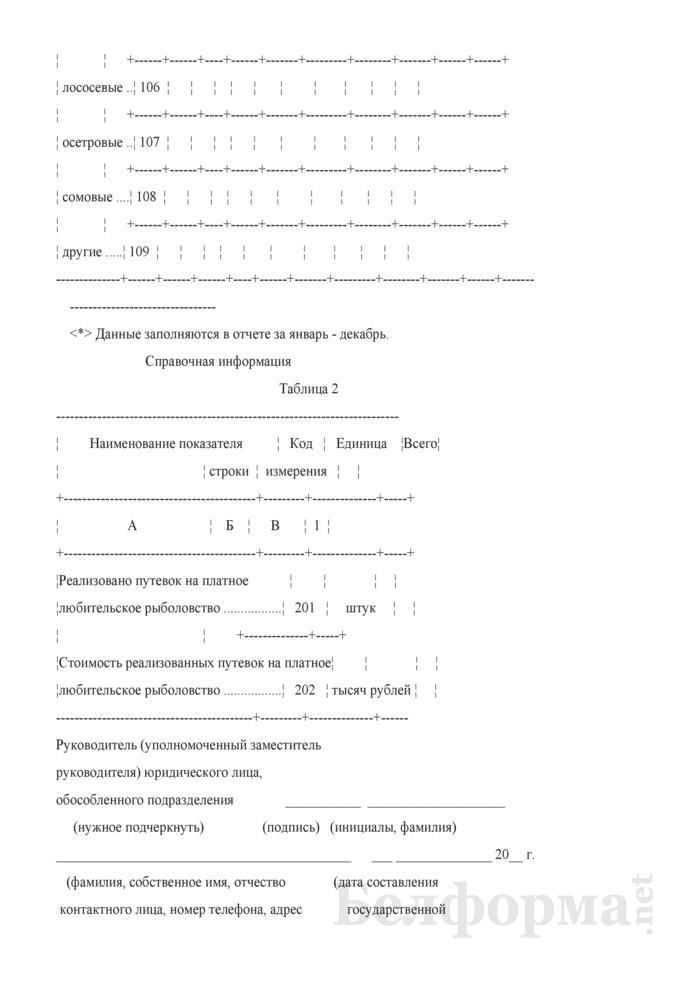 Отчет об улове и реализации рыбы (Форма 4-сх (рыба) (квартальная), код формы по ОКУД 0606071). Страница 4