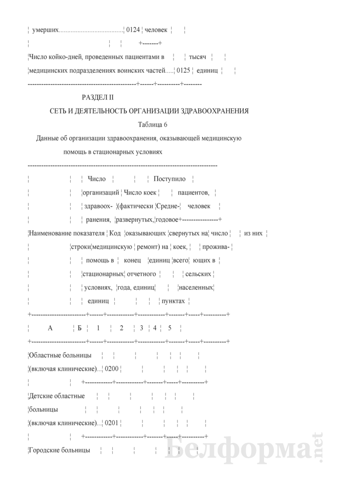 Отчет организации здравоохранения, оказывающей медицинскую помощь в стационарных и амбулаторных условиях (Форма 1-организация (Минздрав) (годовая)). Страница 13