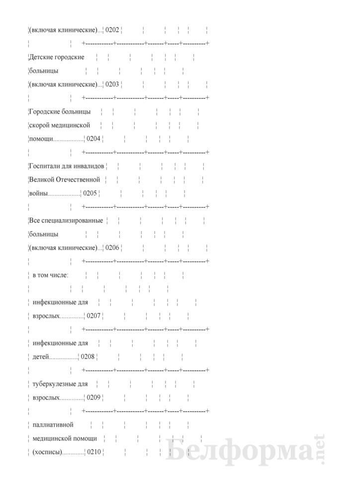 Отчет организации здравоохранения, оказывающей медицинскую помощь в стационарных и амбулаторных условиях (Форма 1-организация (Минздрав) (годовая)). Страница 14