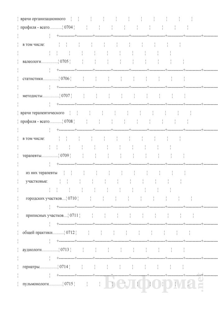 Отчет организации здравоохранения, оказывающей медицинскую помощь в стационарных и амбулаторных условиях (Форма 1-организация (Минздрав) (годовая)). Страница 34