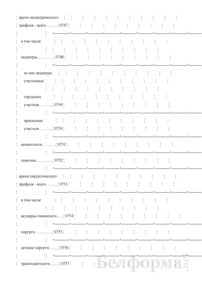 Отчет организации здравоохранения, оказывающей медицинскую помощь в стационарных и амбулаторных условиях (Форма 1-организация (Минздрав) (годовая)). Страница 37