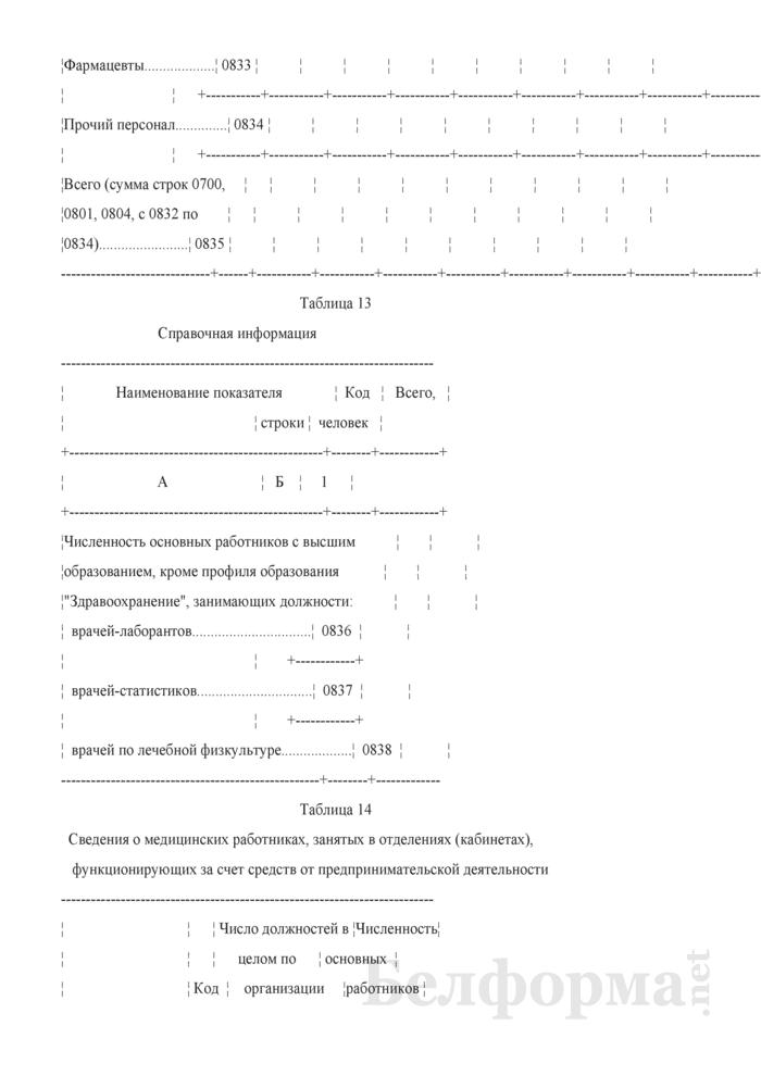 Отчет организации здравоохранения, оказывающей медицинскую помощь в стационарных и амбулаторных условиях (Форма 1-организация (Минздрав) (годовая)). Страница 44