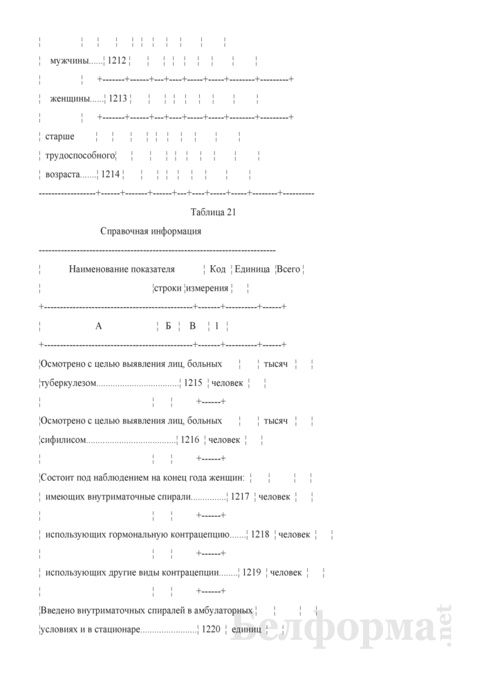 Отчет организации здравоохранения, оказывающей медицинскую помощь в стационарных и амбулаторных условиях (Форма 1-организация (Минздрав) (годовая)). Страница 56