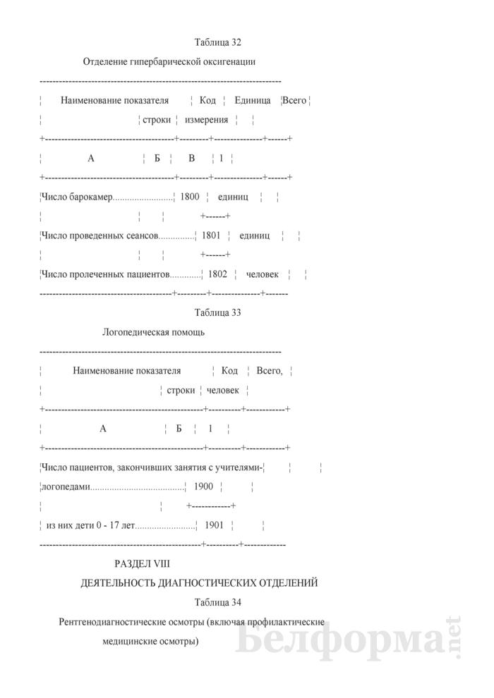 Отчет организации здравоохранения, оказывающей медицинскую помощь в стационарных и амбулаторных условиях (Форма 1-организация (Минздрав) (годовая)). Страница 68